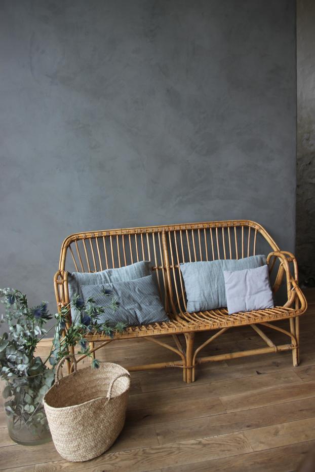 canap en rotin petite belette. Black Bedroom Furniture Sets. Home Design Ideas