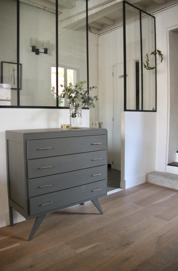 commode vintage gris ardoise petite belette. Black Bedroom Furniture Sets. Home Design Ideas